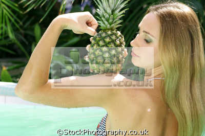 pineapple eating nutrition human activities people persons