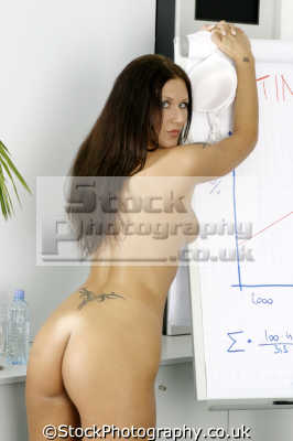 sexy business woman giving presentation office fantasies fantasy daydreams people powerpoint