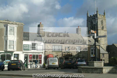 st just market square south west towns england southwest country english uk cornwall cornish great britain united kingdom british