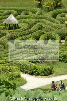 glendurgan garden maze uk parks gardens environmental laurel cornwall cornish england english great britain united kingdom british