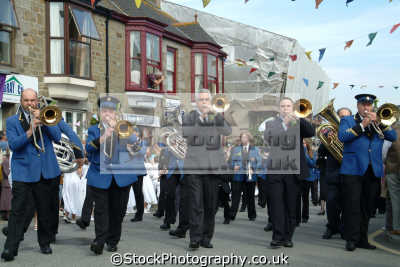 flora day helston. brass band leisure uk helston cornwall cornish england english great britain united kingdom british
