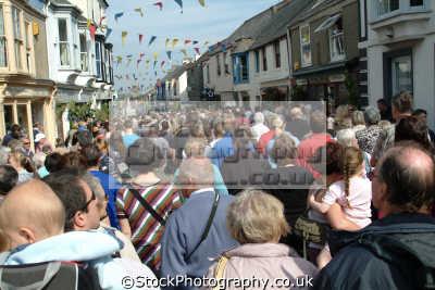 flora day helston. crowds leisure uk helston cornwall cornish england english great britain united kingdom british