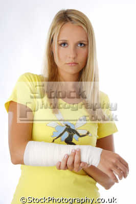 support bandage illness sickness health fitness people persons sprained arm