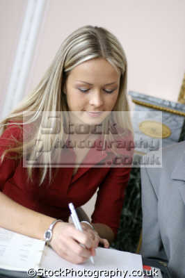 woman writing women female females feminine womanlike womanly womanish effeminate ladylike people persons