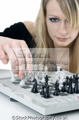 playing chess women woman female females feminine womanlike womanly womanish effeminate ladylike people persons pawns