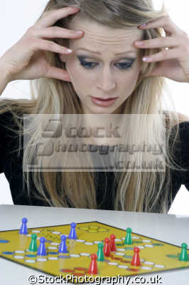 playing board game women woman female females feminine womanlike womanly womanish effeminate ladylike people persons