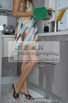 kitchen women cooking cookery cuisine meals housework domestic chores working people persons