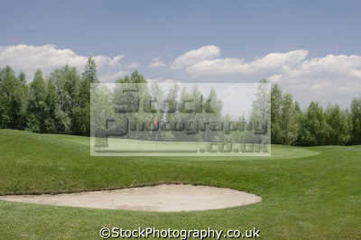 shot bunker green golf golfing sports sporting uk