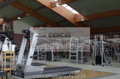 gym gymnasium health clubs exercise physical athletic aerobic anaerobic fitness people persons deserted