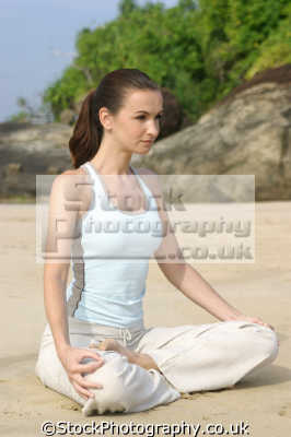 lotus position yoga enlightenment. karma bhakti jnana raja hatha relaxation posture physical exercise athletic aerobic anaerobic health fitness people persons