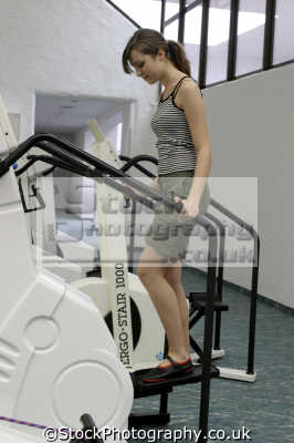 stair machine gym gymnasium health clubs exercise physical athletic aerobic anaerobic fitness people persons