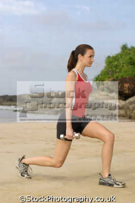 beach workout physical health fitness people persons