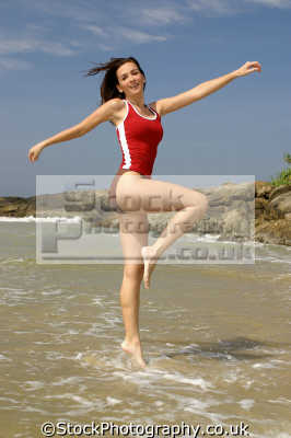 walk water physical workout health fitness people persons ballet