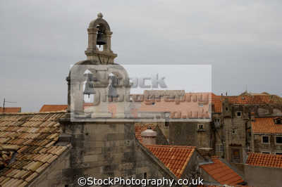 churchbells rooftops dubrovnik european travel croatia republika hrvatska europe croatian