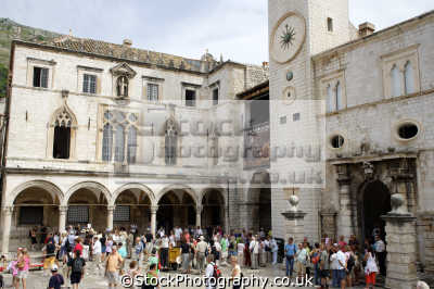 rector palace yard dubrovnik european travel croatia republika hrvatska europe croatian
