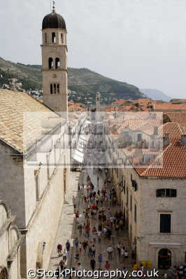 main street dubrovnik european travel croatia republika hrvatska europe croatian