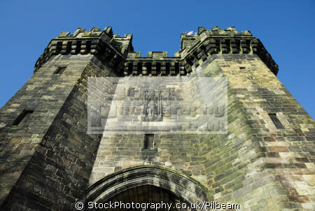 lancaster castle entrance prison looking uk prisons penal detention british architecture architectural buildings prisoner jail goal lancashire lancs england english great britain united kingdom
