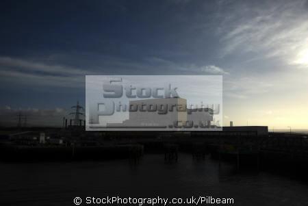 heysham nuclear power stations early morning energy electrical science misc. electricity generation lancashire lancs england english great britain united kingdom british
