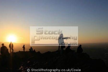 aurthurs seat. edinburgh sunsets dusk travel sunset midlothian central scotland scottish scotch scots escocia schottland great britain united kingdom british