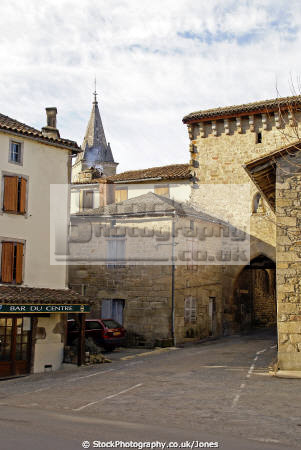 portail notre dame sousceyrac french buildings european travel midi-pyrenees midi pyrenees midipyrenees lot arch gate portal mediaeval fortified france la francia frankreich europe