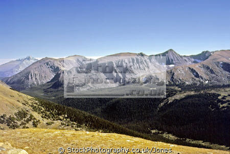 rocky mountain national park wilderness natural history nature misc. head waters tundra np colorado tree-line tree line treeline great continental divide alpine usa united states america american
