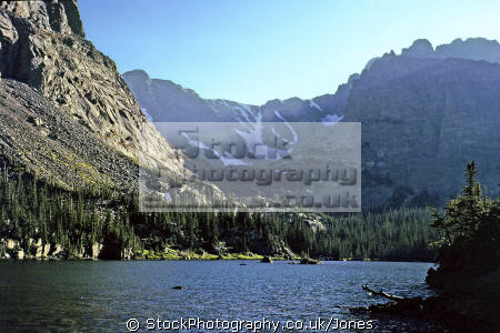 loch rocky mountain wilderness natural history nature misc. clear clean sparkling water alpine forest pristine np colorado usa united states america american
