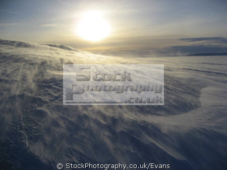 drifting snow polar icecap antarctic natural history nature misc. snowscape antarctica united kingdom british