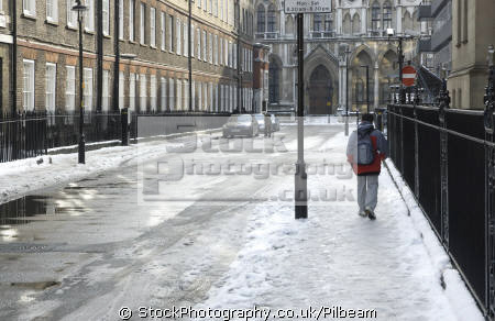 serle street wc2 london snow people buildings architecture capital england english uk snowy road pavement slippery city cockney great britain united kingdom british