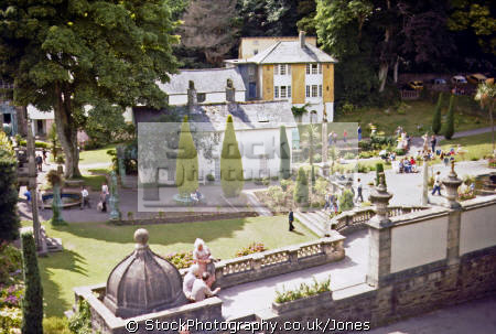 village gardens portmeirion portmerion british architecture architectural buildings uk italianate clough williams-ellis williams ellis williamsellis ornamental prisoner number gwynedd wales welsh país gales great britain united kingdom