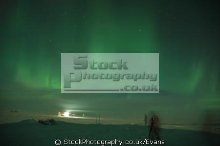 aurora austalis halley research station polar natural history nature misc. southern lights wonder world antarctic night antarctica united kingdom british