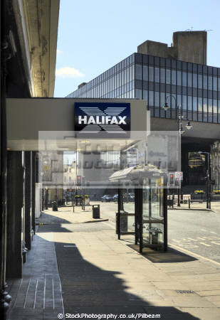 halifax town centre building society branch head office background uk banks commercial buildings retailers british architecture architectural bank banking hbos money financial yorkshire england english great britain united kingdom