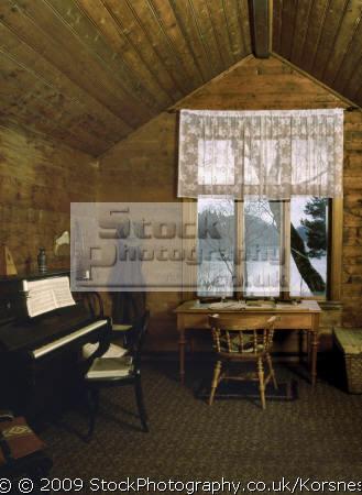 edvard grieg´s composer hut troldhaugen bergen norway. grieg edward musicians celebrities celebrity fame famous star people persons fjord norway kongeriket norge europe european norwegan