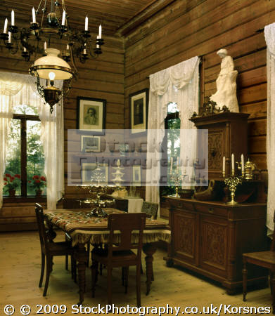 dining room edvard nina grieg´s villa troldhaugen bergen norway grieg edward musicians celebrities celebrity fame famous star people persons fjord kongeriket norge europe european norwegan