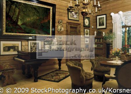 edvard grieg´s living room troldhaugen bergen norway. grieg edward musicians celebrities celebrity fame famous star people persons fjord norway kongeriket norge europe european norwegan