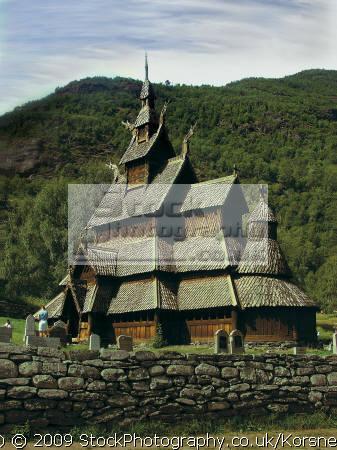 borgund stave church sognefjord. travel fjord norway kongeriket norge europe european norwegan