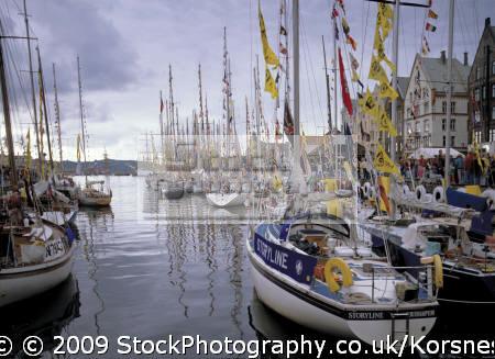 tall ships race bergen harbour vågen norway. travel fjord norway kongeriket norge europe european norwegan