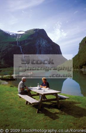 loen lake near stryn norway. travel fjord norway kongeriket norge europe european norwegan