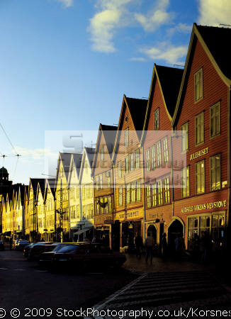 hanseatic warf bryggen bergen norway. protected unesco world heritage site travel fjord norway kongeriket norge europe european norwegan