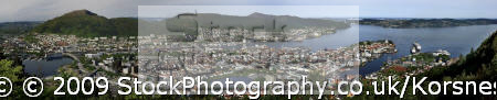 panorama bergen norway. travel fjord norway kongeriket norge europe european norwegan