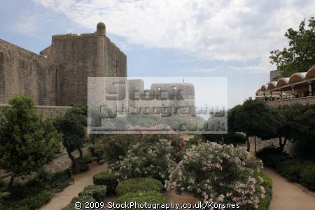 town wall. old city dubrovnik croatia. unesco world heritage site. travel croatia republika hrvatska europe european croatian