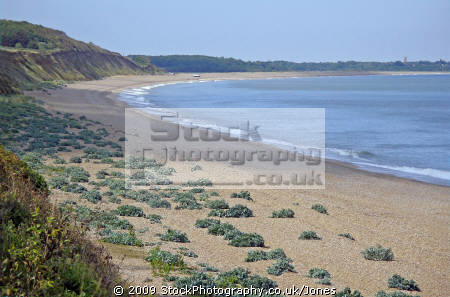 dunwich beach suffolk looking north southwold. british beaches coastal coastline shoreline uk environmental heath seaside camping sandy bay east anglia england english great britain united kingdom
