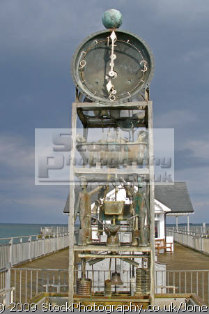 water clock pier southwold suffolk piers uk coastline coastal environmental holiday seaside timekeeping horology amusing humourous east anglia england english great britain united kingdom british