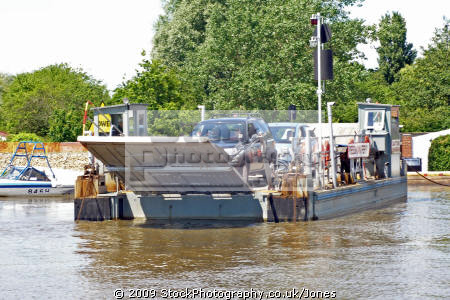 reedham ferry norfolk uk rivers waterways countryside rural environmental cable river yare broads crossing car vehicle foot passenger fens east anglia england english great britain united kingdom british