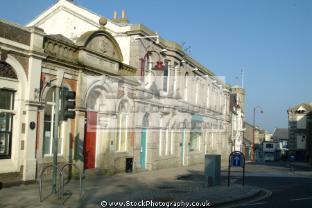 old mining exchange alma place redruth south west towns england southwest country english uk cornwall cornish great britain united kingdom british