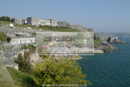 seafront plymouth madiera road royal citadel corinthians yacht club british seaside coastal resorts leisure uk hoe sound devon devonian england english great britain united kingdom
