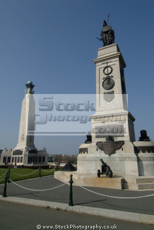raf navy memorials plymouth hoe uk monuments british architecture architectural buildings armed forces promenade devon devonian england english great britain united kingdom