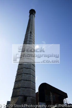 factory chimney plane sky halifax yorkshire industry industrial uk business commerce outlet tall looking england english great britain united kingdom british
