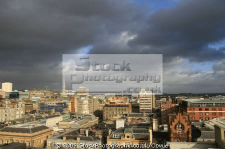 looking east glasgow city centre. uk towns environmental centre stormy central scotland scottish scotch scots escocia schottland great britain united kingdom british