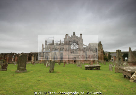 ruins melrose abbey. uk abbeys churches worship religion christian british architecture architectural buildings church scottish borders scotland scotch scots escocia schottland great britain united kingdom
