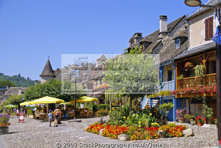 bars restaurants quai lestourgie pleasant market town argentat southern limousin. french buildings european travel correze dordogne promenade quay quais bridge limousin france la francia frankreich europe